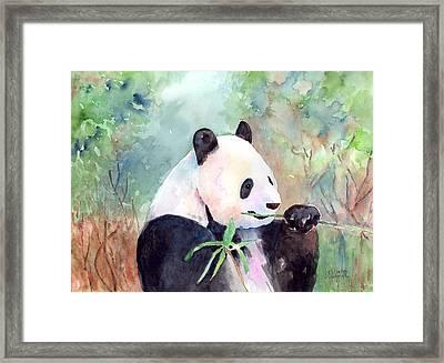Having A Snack Framed Print by Arline Wagner