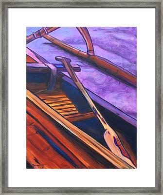 Hawaiian Canoe Framed Print by Marionette Taboniar