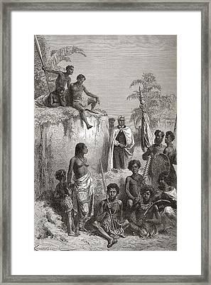 Hawaiian King Kamehameha I, C.1758 To Framed Print by Vintage Design Pics