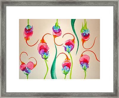Hawaiian Warrior Upside-down Flowers Framed Print by Erika Swartzkopf