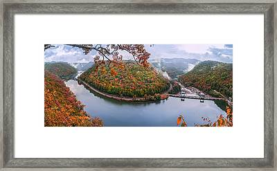 Hawks Nest State Park Autumn Splendor Framed Print by Mary Almond
