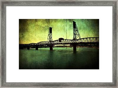 Hawthorne Bridge Framed Print by Cathie Tyler