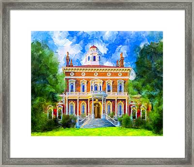 Hay House - Historic Macon Georgia Framed Print by Mark Tisdale