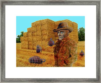 Hay Palace Framed Print by James Huntley