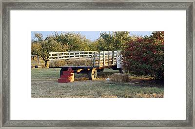 Hay Ride Framed Print by Karen Wallace