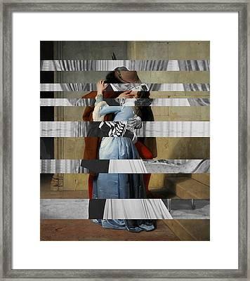 Hayes's The Kiss And Vivien Leigh With Clark Gable Framed Print by Luigi Tarini