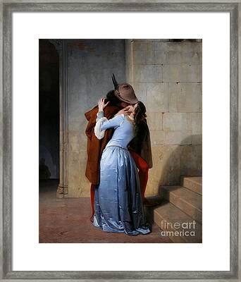 Hayez: The Kiss Framed Print by Granger