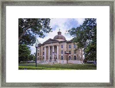 Hays County Courthouse Framed Print by Joan Carroll