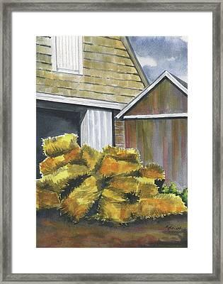 Haystack Framed Print by Marsha Elliott