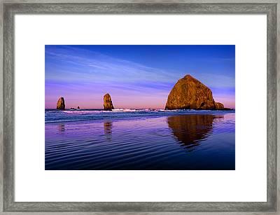 Haystack Sunrise Framed Print by Brian Bonham