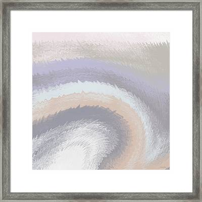 Hazy Morning- Abstract Art By Linda Woods Framed Print by Linda Woods
