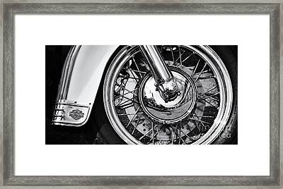 Hd Heritage Softail Framed Print by Tim Gainey