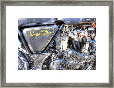 Hdr Norton 850 Framed Print by Joe Myeress