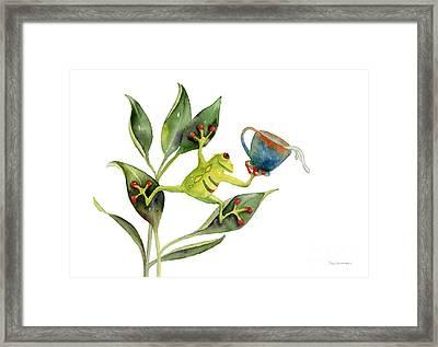 He Frog Framed Print by Amy Kirkpatrick