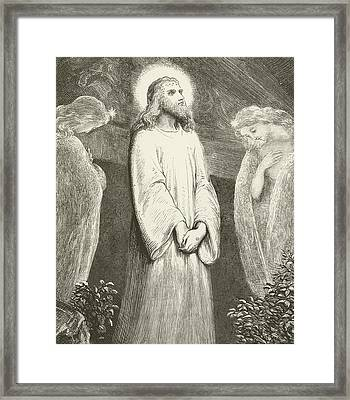 He Is Risen Framed Print by English School