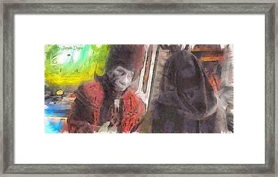 He Promised Peace For Us - Da Framed Print by Leonardo Digenio