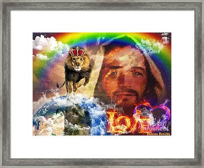 He Will Return Framed Print by Dolores Develde