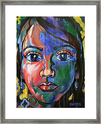 Head 2.0 Framed Print by Julia Pappas