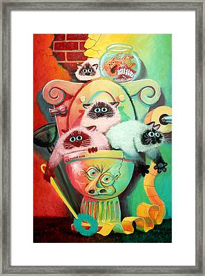 Head Cleaners Framed Print by Baron Dixon