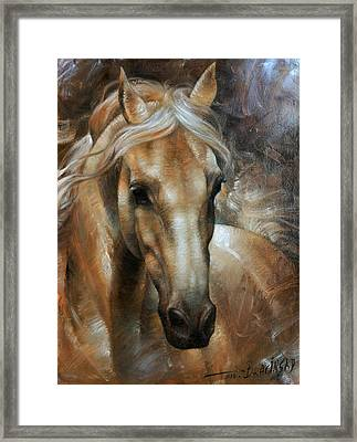 Head Horse 2 Framed Print by Arthur Braginsky