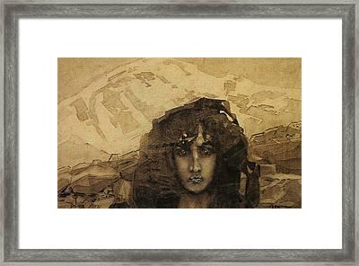 Head Of A Demon Framed Print by Mikhail Aleksandrovich Vrubel