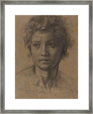 Head Of Saint John The Baptist Framed Print by Andrea Del Sarto