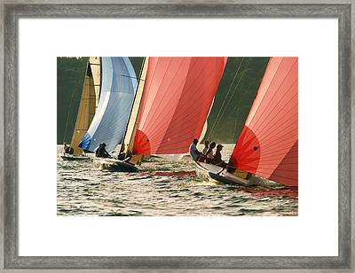 Head On - Lake Geneva Wisconsin Framed Print by Bruce Thompson