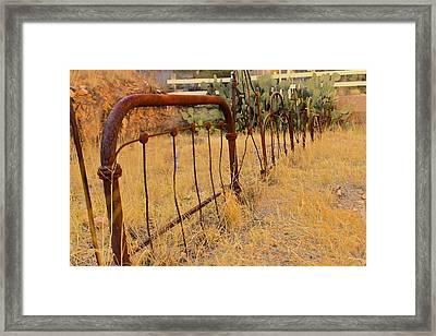 Headboard Fence Framed Print by Angie Wingerd