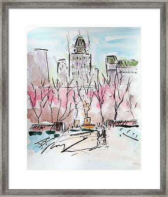 Heading Back To The Plaza Framed Print by Chris Coyne