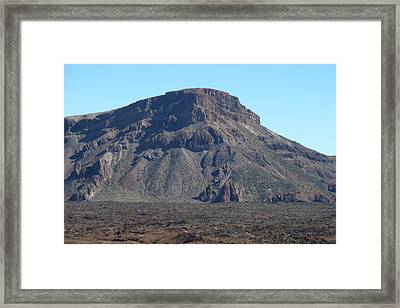 Heading Up Mount Teide Framed Print by George Leask