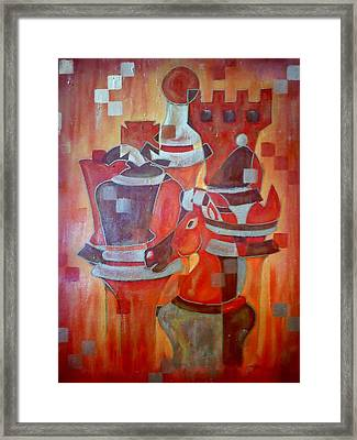 Heads Of Chess Framed Print by Shellton Tremble