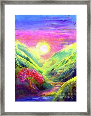 Healing Light Framed Print by Jane Small