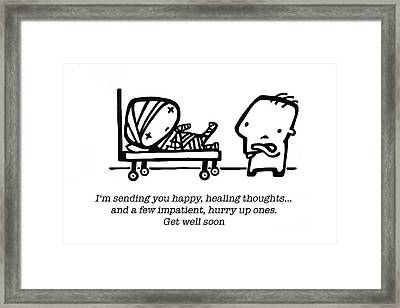 Healing Thoughts Framed Print by Leanne Wilkes