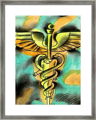 Healthcare And Expense Framed Print by Leon Zernitsky