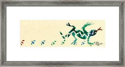 Hear The Lizard Framed Print by Annie Alexander
