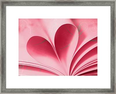 Heart A Flutter Framed Print by Rebecca Cozart