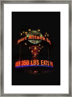 Heart Attack Grill Framed Print by Art Spectrum