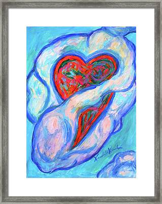 Heart Cloud Stage One Framed Print by Kendall Kessler