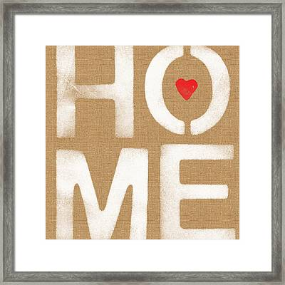 Heart In The Home- Art By Linda Woods Framed Print by Linda Woods