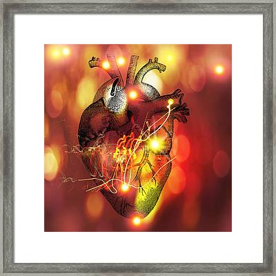Heart Framed Print by Mehau Kulyk