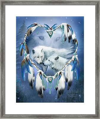 Heart Of A Wolf 3 Framed Print by Carol Cavalaris