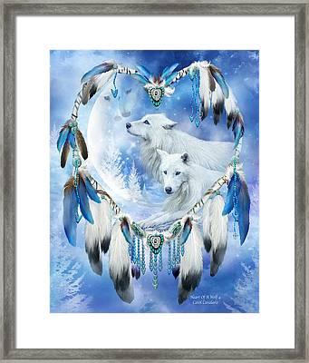 Heart Of A Wolf 4 Framed Print by Carol Cavalaris