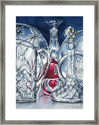 Heart Of Glass Framed Print by Jane Loveall