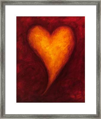 Heart Of Gold 2 Framed Print by Shannon Grissom