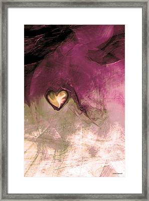 Heart Of Gold Framed Print by Linda Sannuti