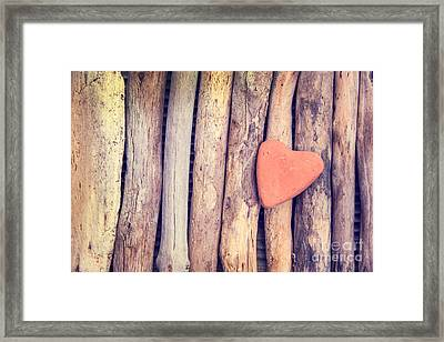 Heart Of Stone Framed Print by Delphimages Photo Creations