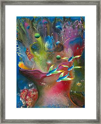 Heart Of The Reef Framed Print by Lee Pantas