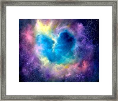 Heart Of The Universe Framed Print by Sally Seago