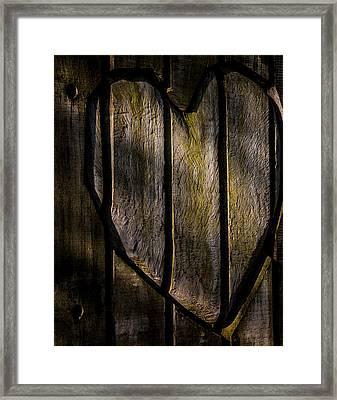 Heart Of Wood Framed Print by Odd Jeppesen