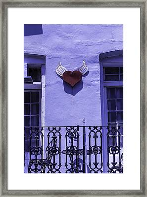 Heart On Wall Framed Print by Garry Gay